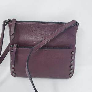 SIMPLY VERA Plum Leather Crossbody Bag